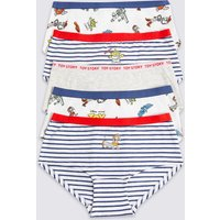 5 Pack Cotton with Stretch Toy Story Shorts (6-16 Years)