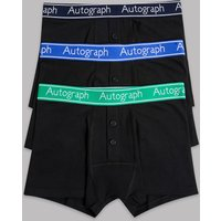 Autograph 3 Pack Cotton with Stretch Trunks (6-16 Years)