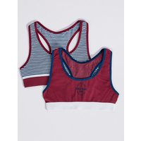 2 Pack Sports Cropped Tops (6-16 Years)