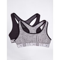 2 Pack Dance Crop Tops (6-16 Years)
