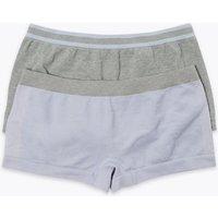2 Pack Seam Free Sports Shorts (6-16 Years)