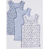 3 Pack Pure Cotton Vests (18 Months - 8 Years)