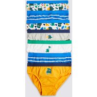 7 Pack Pure Cotton Dinosaurs Briefs (18 Months - 8 Years)