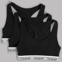Autograph 3 Pack Racer Cropped Tops (6-16 Years)