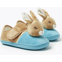 Kids' Peter Rabbit Riptape Slippers (5 Small - 12 Small)