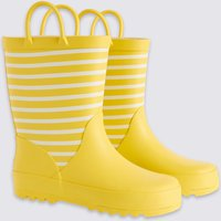 Kids' Striped Wellies (5 Small - 12 Small)