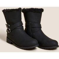 M&S Girls Kids' Freshfeettm Ankle Boots (13 Small - 6 Large) - 5 L - Tan, Tan