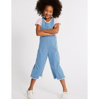 2 Piece Denim Jumpsuit and Top Outfit (3-16 Years)