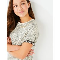 Pure Cotton Leopard Print T-Shirt (3-16 Years)