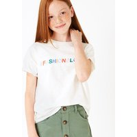 Cotton Fashion Blogger Embroidered T-Shirt (3-16 Years)