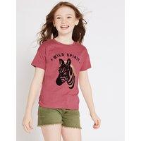 Cotton Blend Zebra T-Shirt (3-16 Years)