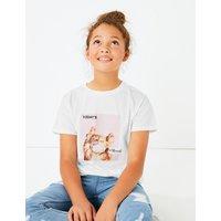 Cotton Cat Print T-Shirt (3-16 Years)