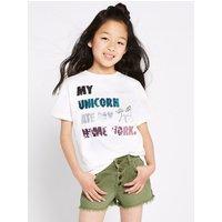 Pure Cotton Unicorn T-Shirt (3-16 Years)