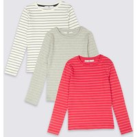 3 Pack Cotton Tops With Stretch (3-16 Years)