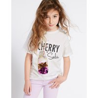 Pure Cotton Sequin Soda T-Shirt (3-16 Years)