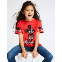 Mickey Mouse Pure Cotton T-Shirt (3-16 Years)