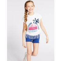 Pure Sequin Cotton T-Shirt (3-16 Years)