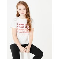 Be Awesome Slogan T-Shirt (6-16 Years)