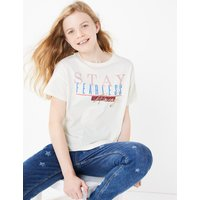 Cotton Stay Fearless Always Slogan T-Shirt (3-16 Years)
