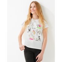 Cotton Cat Yoga Print T-Shirt (6-16 Years)
