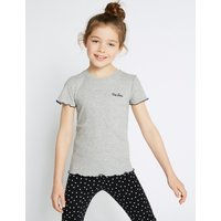Tres Bien Slogan Ribbed T-Shirt (3-16 Years)