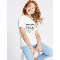 Pure Cotton Sequin T-Shirt (3-16 Years)
