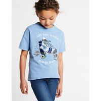 Pure Cotton Sequin Skates T-Shirt (3-16 Years)