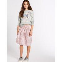 Animal Print Velvet Skirt (3-16 Years)