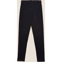 M&S Girls Cotton Leggings with Stretch (2-16 Yrs) - 2-3 Y - Black, Black