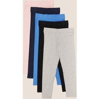 5 Pack Cotton Leggings with Stretch (3-16 Years)