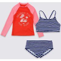 3 Piece Colour Block Swimsuit Set (3-16 Years)