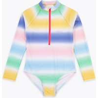 Ombre Long Sleeve Swimsuit (6-16 Years)