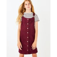 2 Piece Cord Pinafore Dress Outfit (3-16 Years)