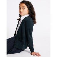 Junior Girls' Pure Cotton Cardigan