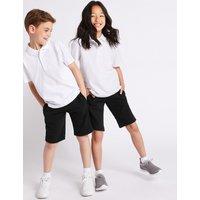 2 Pack Boys Cotton Rich Shorts