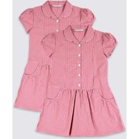 2 Pack Girls' Plus Fit Pure Cotton Dress