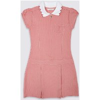 Girls Plus Fit Pleated Gingham Dress