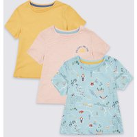 3 Pack Pure Cotton Road Trip T-Shirts (3 Months - 7 Years)