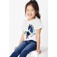 Cotton Sequin Unicorn T-Shirt (2-7 Years)