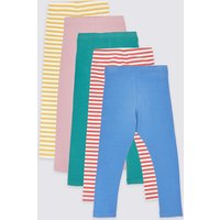 5 Pack Striped Leggings (3 Months - 7 Years)