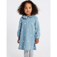 Denim Spot Dress (1-7 Years)