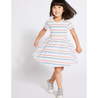 Pure Cotton Multi Striped Dress (3 Months - 7 Years)