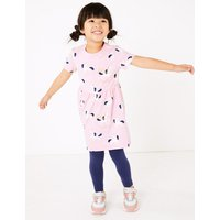 Cotton Unicorn Print Dress (2-7 Years)