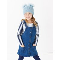 2 Piece Denim Pinafore Outfit (3 Months - 7 Years)