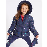 All Over Heart Coat ( 3 Months - 7 Years )