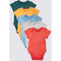 5 Pack Organic Pure Cotton Bodysuits