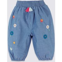 Pure Cotton Chambray Trousers