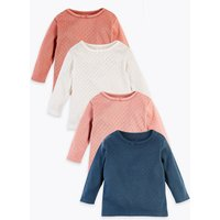 4 Pack Pure Cotton Organic Pointelle Tops