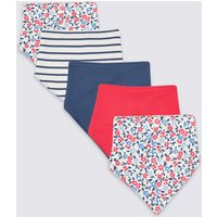 5 Pack Organic Cotton Floral Dribble Bibs