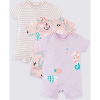 3 Pack Pure Organic Cotton Rompers